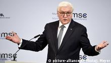 Deutschland München Sicherheitskonferenz MSC Bundespräsident Steinmeier