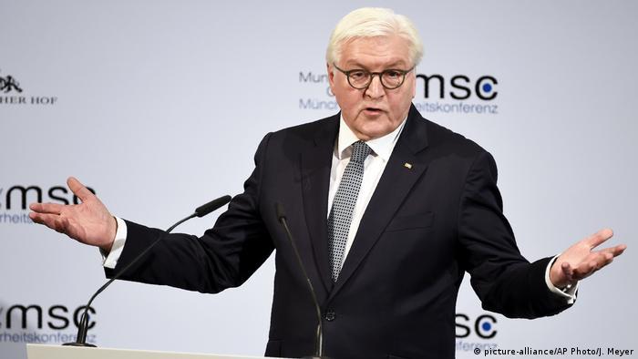 Deutschland München Sicherheitskonferenz MSC Bundespräsident Steinmeier (picture-alliance/AP Photo/J. Meyer)