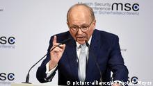 Deutschland München Sicherheitskonferenz MSC Wolfgang Ischinger