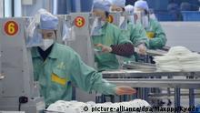 China Shanghai | Coronavirus | Produktion von Schutzmasken