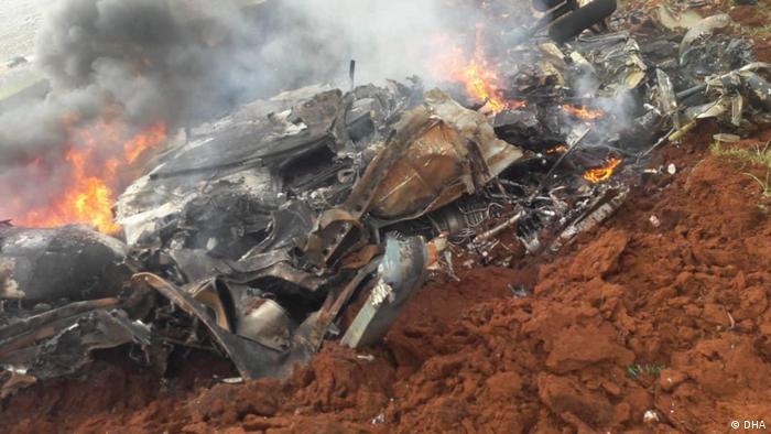 Syrien Idlib Helikopter Abschuss