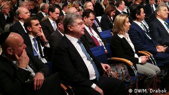 Экс-президент Украины Петр Порошенко на Мюнхенской конференции по безопасности