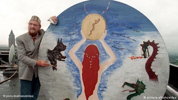 Ernst Fuchs mit Euro-Kunstwerk