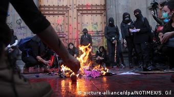 La protesta ha llegado hasta las puertas de Palacio Nacional