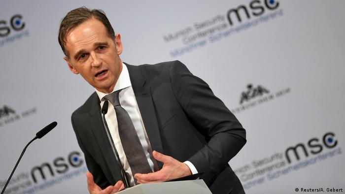 Гайко Маас під час виступу на Мюнхенській конференції з безпеки