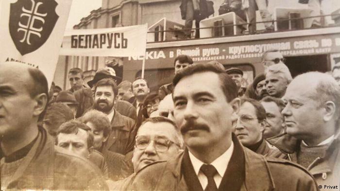 Экс-глава МВД Беларуси Юрий Захаренко на акции оппозиции в Минске