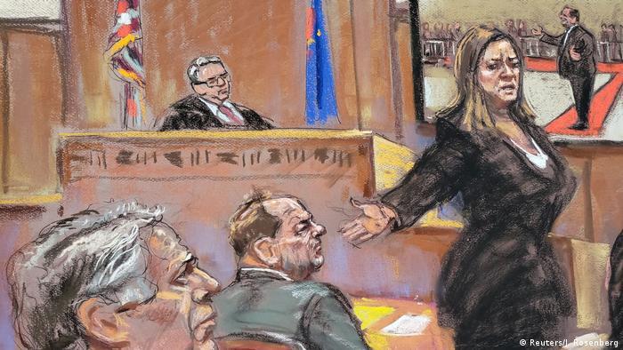 USA Prozess Harvey Weinstein   Gerichtsskizze Schlussplädoyer Joan Illuzzi-Orbon