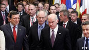 EU leaders at a summit in Brussels