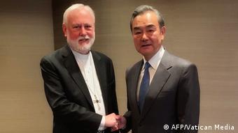 München Treffen Außenminister Vatiikan Paul Gallagher mit China Wang Yi