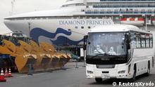 Japan Yokohama Kreuzfahrtschiff Diamond Princess unter Quaratäne