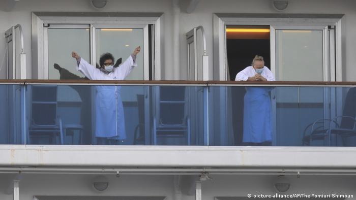 Las autoridades japonesas han registrado 218 contagios del nuevo coronavirus (COVID-19) a bordo del Diamond Princess (15.02.2020)