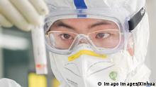 200213 -- WUHAN, Feb. 13, 2020 -- A staff member works in a laboratory in Wuhan, central China s Hubei Province, Feb. 13, 2020. As a designated service provider of nucleic acid detection of the novel coronavirus, KingMed Diagnostics laboratory in Wuhan conducts non-stop detection service and detects over 2,000 samples from various cities in Hubei Province every day. CHINA-HUBEI-WUHAN-NCP-LABORATORY CN ChengxMin PUBLICATIONxNOTxINxCHN