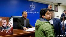 Prozess gegen Rouhollah Zama, Direktor des Telegrammkanal Amadnews Teheran Iran