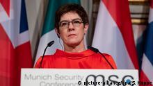 Münchner Sicherheitskonferenz AKK Annegret Kramp-Karrenbauer