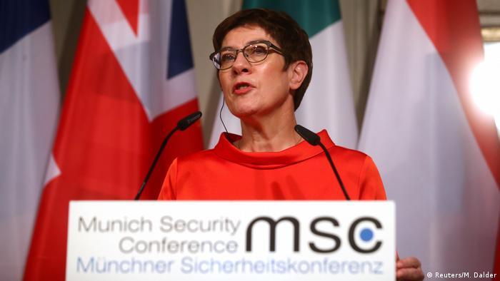 German Defense Minister Annegret Kramp-Karrenbauer at the Munich Security Conference