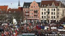 General view during a protest against Germany's far-right Alternative for Germany (AFD) party in Erfurt, Germany, February 15, 2020. REUTERS/Christian Mang