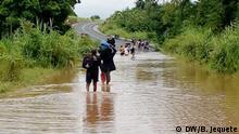 Überschwemmungen durch schlechtes Wetter schnitten Straßenabschnitte in Manica.
