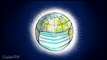 Vladdo Karikatur | Coronavirus | alerta mundial | globale Warnung