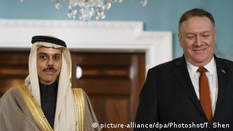 USA   Mike Pompeo trifft Außeminister Saudi Arbabiens Faisal bin Farhan Al Saud