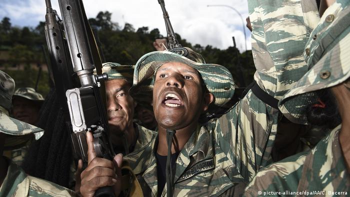 Venezuela | Militärübung (picture-alliance/dpa/AA/C. Becerra)
