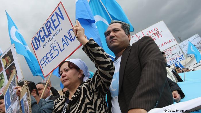أيغور يتظاهرون في برلين للفت الانتباه لظروف عيش شعبهم