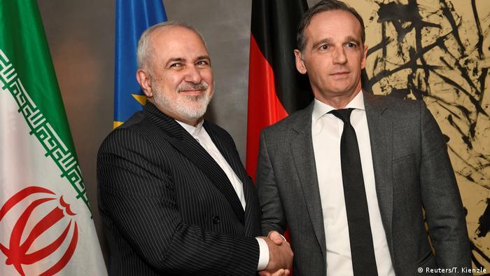 هایکو ماس و جواد ظریف - کنفرانس امنیتی مونیخ در سال ۲۰۲۰