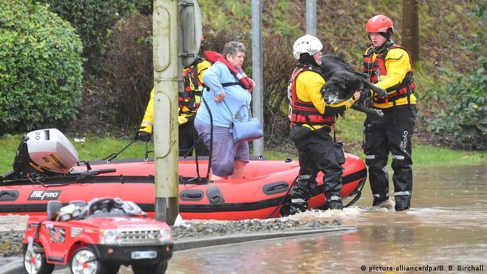 Großbritannien Sturm Dennis Überschwemmung