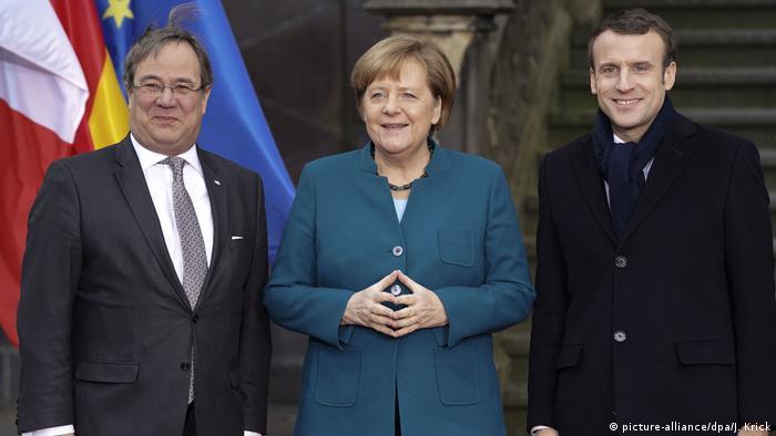 Angela Merkel Armin Laschet Emmanuel Macron