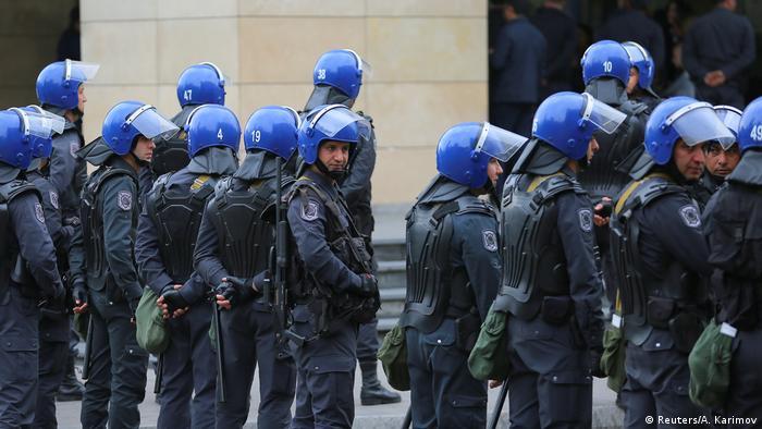Police in Azerbaijan in October 2019