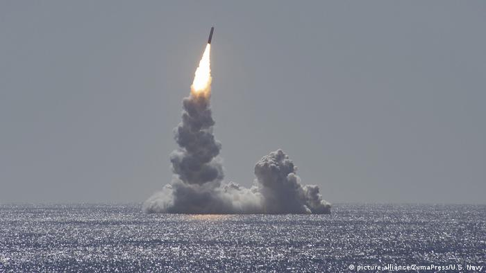 Пробный запуск баллистической ракеты Trident II в Калифорнии