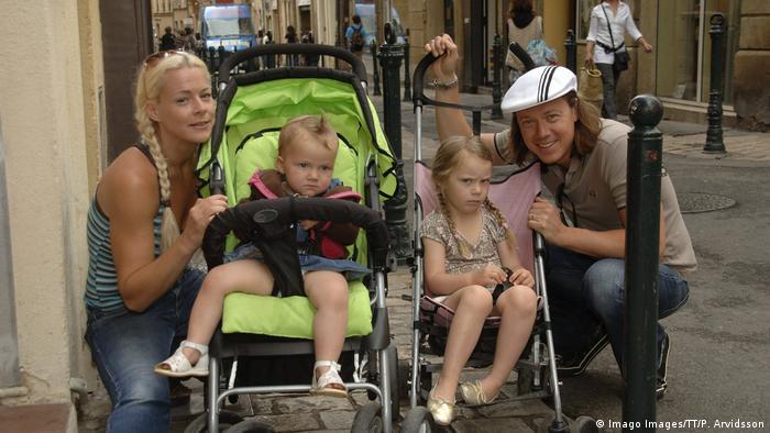 Greta Thunberg with her family
