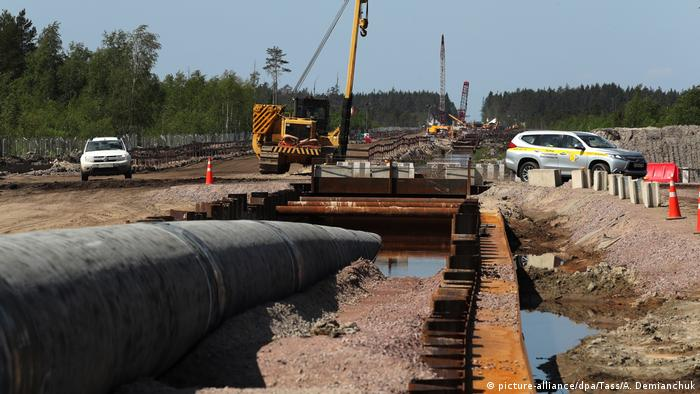 The Nord Stream 2 going above land