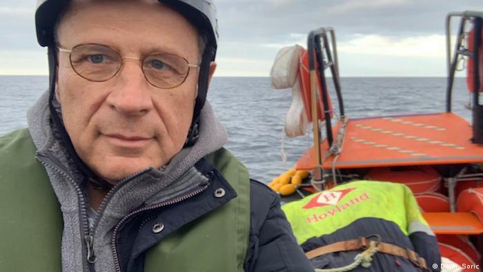 Miodrag Soric auf der Ocean Viking (DW/M. Soric)