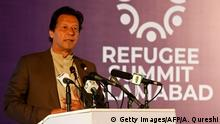 Pakistan UN-Flüchtlingsgipfel in Islamabad | Imran Khan (Getty Images/AFP/A. Qureshi)
