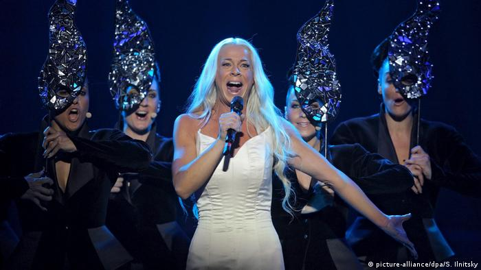 Malena Ernman at Eurovision Song Contest for Sweden in 2009