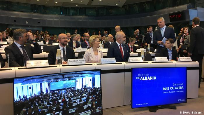 Donation Konferenz für Albanien organisiert von der EU Kommission (Together for Albania