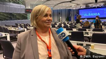 Milva Ekonomi, PDNA Albanien (DW/A. Bajrami)