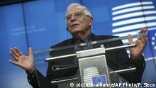PK des Chefs der Außenpolitik der EU Josep Borrell
