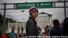 Mittelamerikanische Migranten an der Grenze zu Mexiko