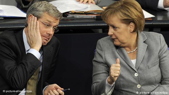 Norbert Roettgen with Chancellor Merkel