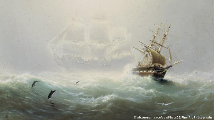A painting of the Flying Dutchman produced by Charles Temple Dix. (picture-alliance/dpa/Photo12/Fine Art Photographs)