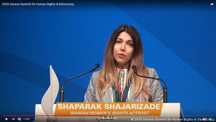 Videostill vom Livestream / Genfer Gipfel für Menschenrechte und Demokratie 2020 (2020 Geneva Summit for Human Rights & Democracy)