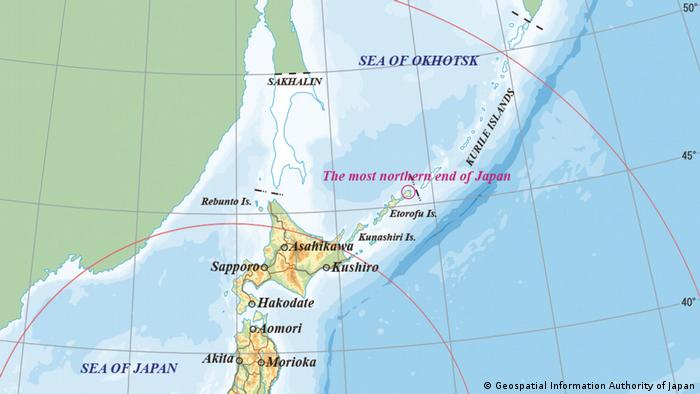 Japan claims parts of the Kuril Islands, which officially belong to Russia