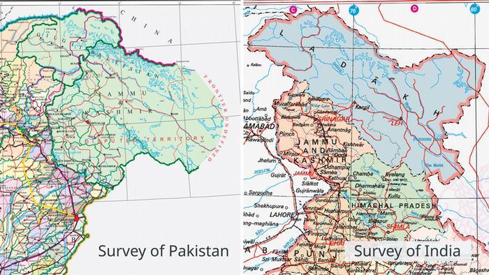 Karten Jammu und Kashmir EN
