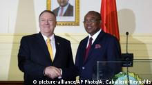 Mike Pompeo in Angola