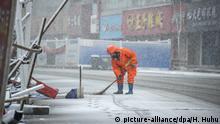 China Xiaogan Coronavirus Schneefall Schnee Wetter