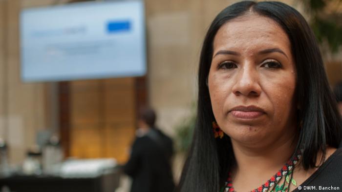 Joana Costa, Vorsitzende des Rates der Indianer Gemeinden aus dem Cauca