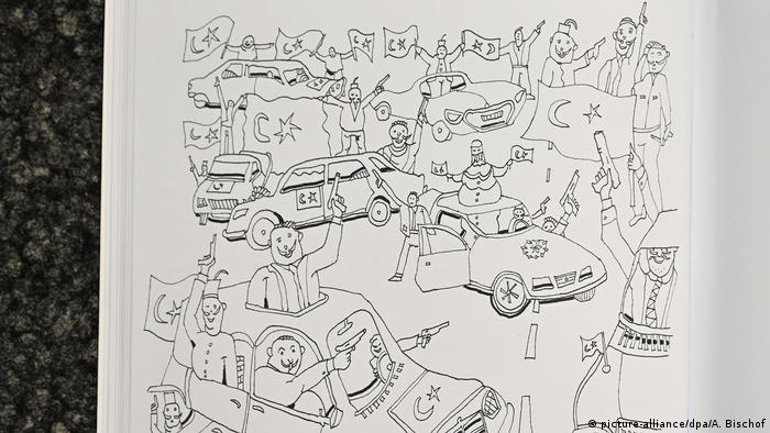 Coloring book from the AfD event in Krefeld