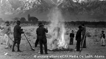 Campo de concentración en Manzanar (California).