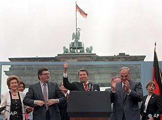 In a 1987 visit to Berlin, Reagan called on the Soviets to 'tear down' the Wall.